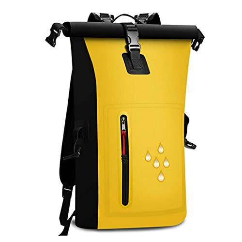GLJ Zaino della Borsa di Immagazzinaggio del PVC, Borsa Stagna Impermeabile Galleggiante con Tasca Frontale con Cerniera, per Viaggi, Nuoto, Canottaggio, Kayak (Color : Yellow)