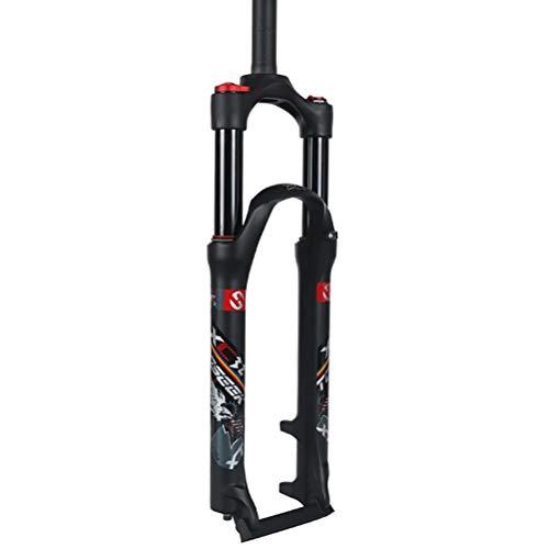 Horquilla de Bicicleta MTB 26 27.5 29 Inch Ultraligero Control de Hombro Aluminum Alloy Mountain Bike Horquilla de Suspensión Recorrido: 100 mm