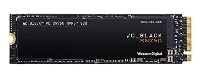 WD Black SN750 - SSD interno NVMe para gaming de alto rendimiento, 500 GB