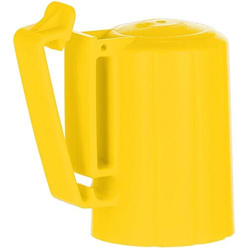 Agrarzone 10x T-Post Kopfisolator für T-Pfosten gelb | Isolatoren für Weidezaun Elektrozaun | robuster Kopf-Isolator für bessere Pfahlaufnahme | für Litze Seil Draht Band Weidezaunpfahl T-Pfähle