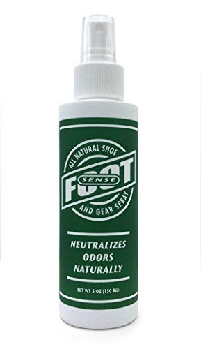 Natural Shoe Deodorizer & Gear Spray - Foot Odor Eliminator - Eliminates Smell Naturally. Use on Stinky Shoes Gear, Smelly feet and Household Odors. Non-Toxic.