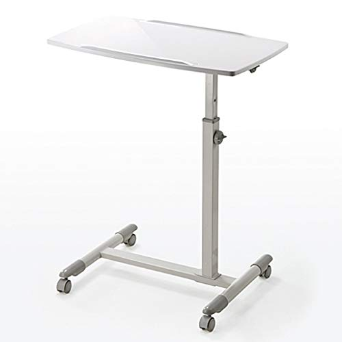 Bedtafel Hoogte Verstelbare Hoek Tilt Mobile Bedside Computer Bureau Met Locking Wheel, Assisted Living, Laptop Stand For Slaapbank For Reading Studeren, Eten En Werk (Color : B)