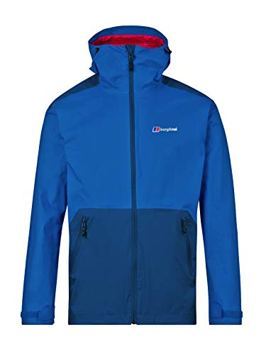 Berghaus Men's Deluge Pro Waterproof Jacket, Snorkel Blue/Deep Water (Extred), L