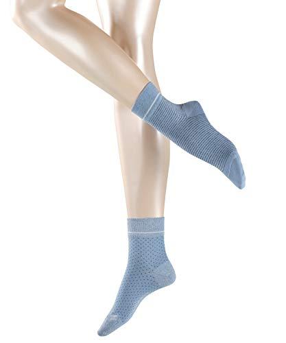 FALKE Damen Nice Stripe & Dot 2-Pack W ShS ESPRITSocken - Baumwollmischung, Blau (Summersky 6413), 39-42