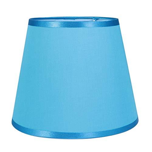 OSALADI - Tambor de pantalla antipolvo con forma de pantalla de tela para mesa, lámpara de pie, accesorio de repuesto para oficina en casa, 22 cm, color azul, tela, azul, 22 × 17 cm