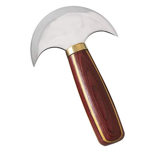 Leder Rundkopfmesser Halbrundmesser aus Leder mit Sandelholzgriff Schnellarbeitsstahl-Ledermesser für das DIY Leathercraft-Schneiden