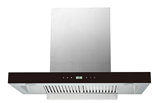 KAFF 60 cm 1200 m3/hr Auto Clean Ductless Chimney (LUMEX DHC 60, 2 Baffle+Charcoal Filters, Touch Control, Steel & Black)