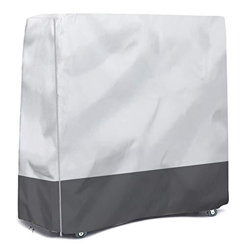 HALOKETI Tischdecken für Tischtennis,Internationale Standardgr??e,Tischdecken für Falten,Sonnenschutz Regenschutz Staubschutz innen/au?en (Silber-Grau)
