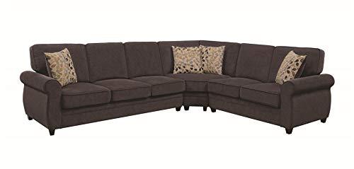 Coaster Home Furnishings Living Room Sectional Sofa, Espresso