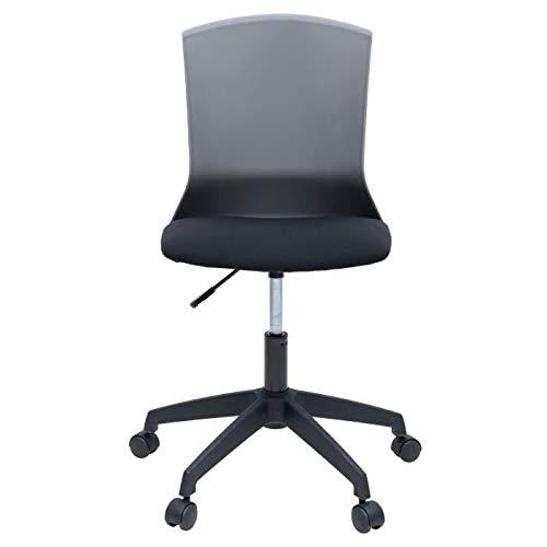 Silla de oficina HERY - Tela negra y gris - Contempor�nea - L 47 x P 52 cm