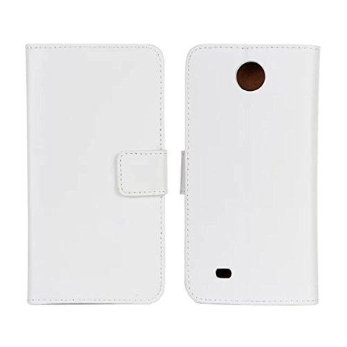 Soli cambió Brown-cuero auténtico-portamonete con tarjetas-bolsa-estar de pie-ser-cubierta para HTC Deseo 300/Zara Mini: Amazon.es: Electrónica