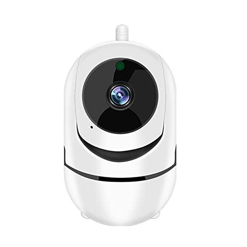 Cámara Web Cámara Inteligente de vigilancia WiFi, Seguimiento de rotación automática de 360 °, visión Nocturna de Alta definición, Monitor de Seguridad for Mascotas for el hogar, Alarma de detección