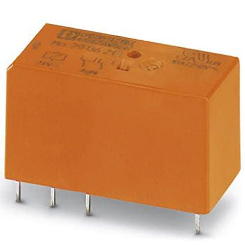 PHOENIX CONTACT Relé de potencia en miniatura REL-MR-24DC/21-21/ATEX enchufable, RT III, sellado con contactos de potencia, 2 cambios, voltaje de entrada de 24 V CC, 10 unidades
