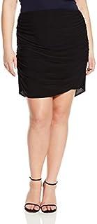 Star Vixen Women's Plus Size Rouched Mini Skirt