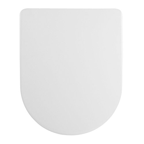 Enjoyable Home Standard White Luxury D Shape Quick Release Soft Close Toilet Seat Squared Edges Top Fix Easy Clean Gmtry Best Dining Table And Chair Ideas Images Gmtryco