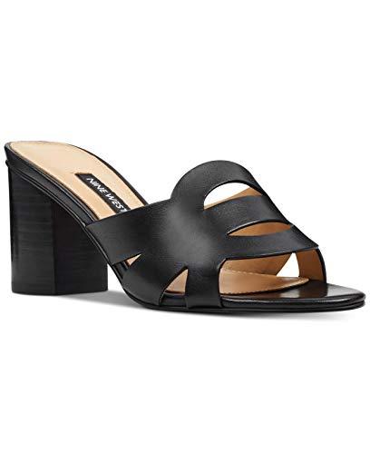 NINE WEST Womens Nevaeh Open Toe Casual Slide Sandalias, negro (Cuero negro), 42 EU