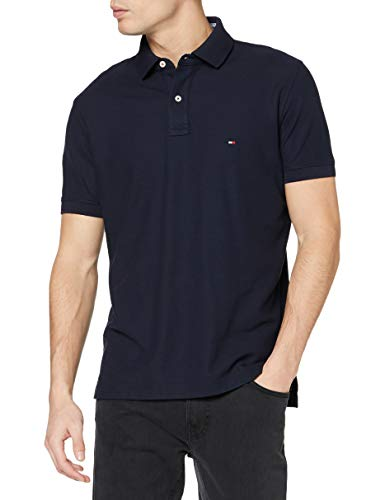 Tommy Hilfiger Herren CORE Hilfiger Regular Polo Poloshirt, Blau (Sky Captain 403), Medium