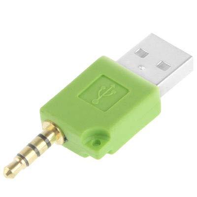 Adaptador de muelle del cargador de datos USB, for el iPod shuffle de 3ª / segundo, longitud: 4,6 cm Nueva (Magenta) Probityli (Color : Green)