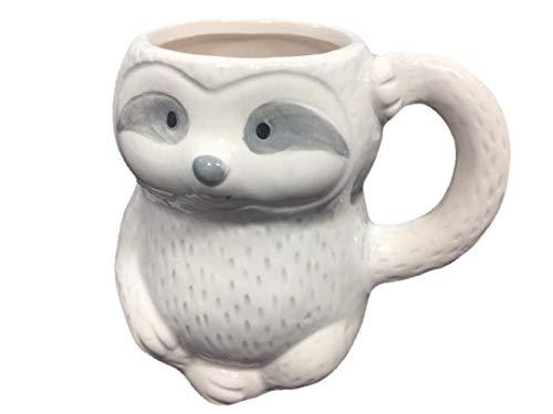 3D Sloth Coffee Mug Figural Sloth-Shaped Mug Holds 14 Ounces