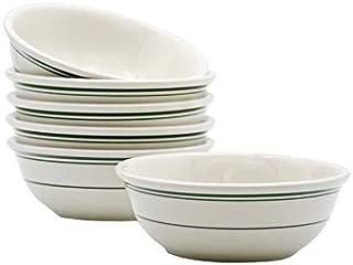 Tuxton Home THTGB018-6B Green Bay Ceramic Bowl, 15-Ounce, Stripe