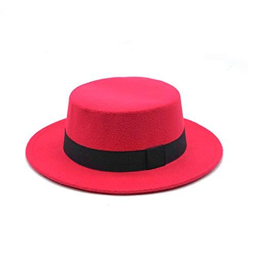 Mdsfe Fedoras Top Jazz Hut für Herren und Damen aus Kunstwolle Europa und Amerika runde Melone 5, One Size