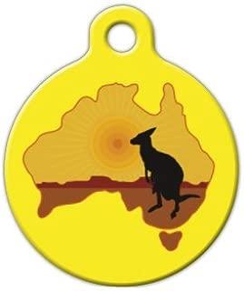 Dog Tag Art Kangaroo Australia Pet ID Tag for Dogs and Cats