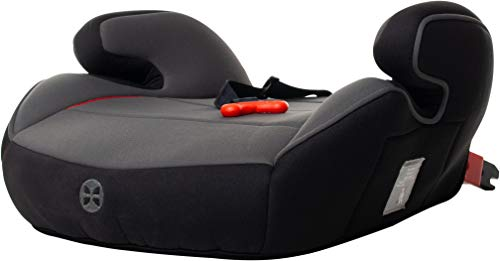 Kindersitzerhöhung 15-36kg Babyblume BOOST Isofix und Gurtfix Black, Gruppe 2/3, (3-12 Jahre), ECE R44/04 Sitzerhöhung Auto Kinder