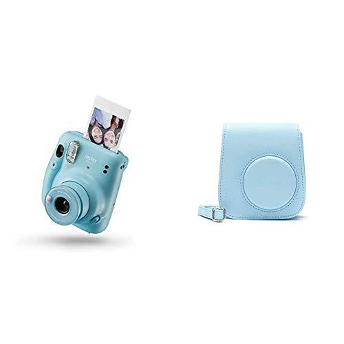 instax 16654956 Mini 11 - Cámara Instantánea, Sky Blue, Compacto + Funda instax para Mini 11 - Sky Blue