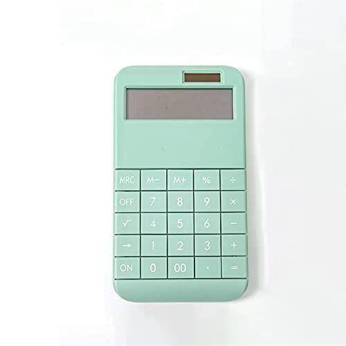 SKK Preciso Calcolatrice Cute Cute 12-Dual Power Desktop Calcolator Desktop con Ampio Display LCD Big Pulsante sensibile per la Ragazza Durevole (Color : Pink)