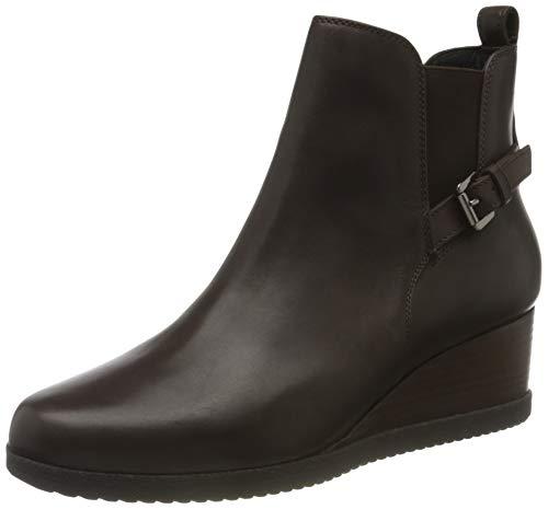 Geox Damen D ANYLLA WEDGE C Ankle Boot, Coffee, 38.5 EU