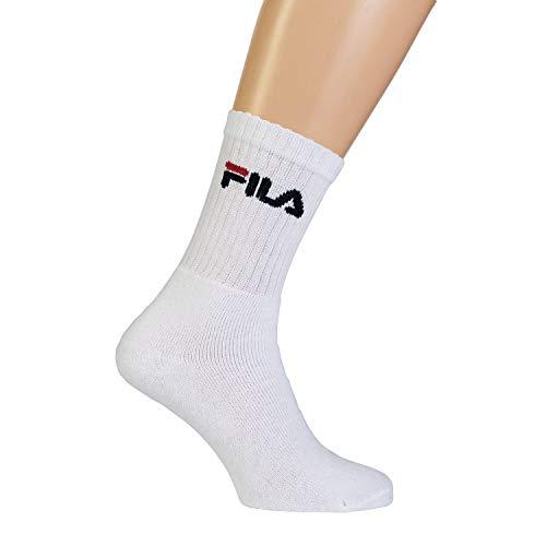 Fila 6 Paar Socken, Frottee Tennissocken mit Logob&, Unisex (2 x 3er Pack) (Weiß, 43-46 (9-11 UK))