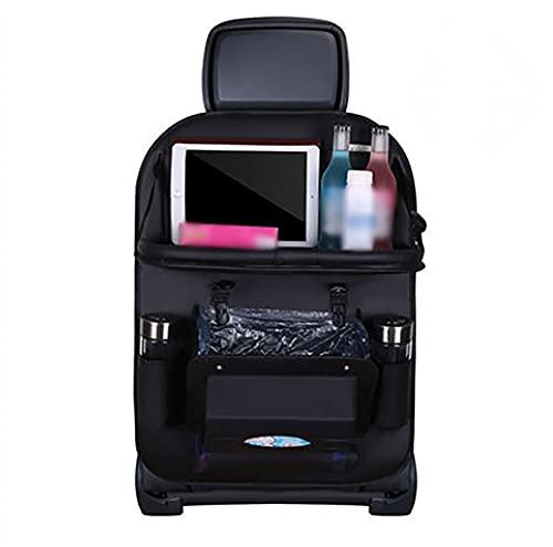 SKYWPOJU Organizador de coche, protector de asiento de coche, protección de respaldo para niños del coche, bolsa de asiento trasero, estante colgante, organizador de asiento de coche, bolsa de almacen