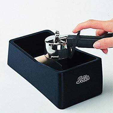 Solis Ausklopfschale für Kaffeesatz, 8 x 11,5 x 22,schwarz