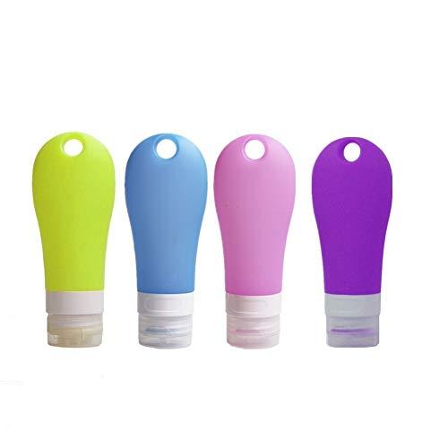 BOENTA Neceser Transparente para Avion Kit Viaje Botellas de tamaño de Viaje Botellas de plástico Viaje artículos de tocador Botellas