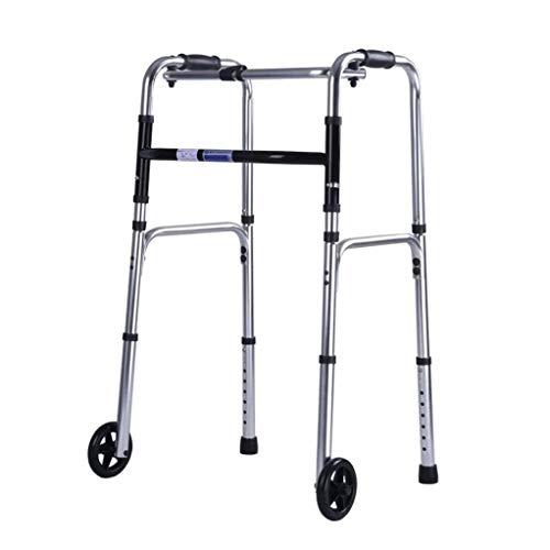 ZHANGYUNSXD Rollator para Ancianos Plegable Rodando Plegable Andador Walker con 2 Ruedas, Andador Ayuda motriz Ligero y Ajustable en Altura Apoyabrazos muleta for Mayores bariátrica for Adultos