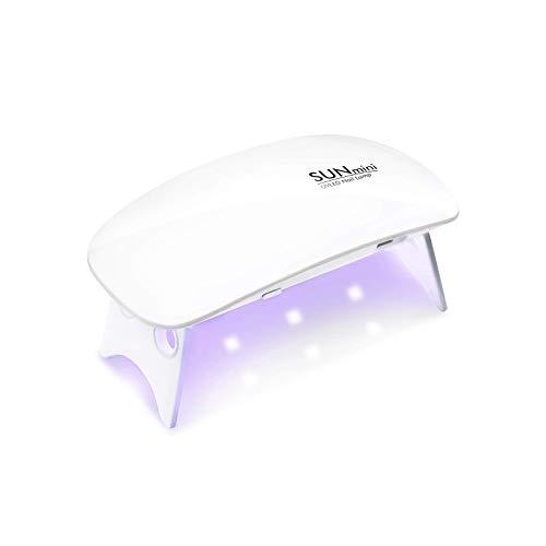 Mini UV LED Lampe - 6 LED Lichter - SUN Mini - Nail Lamp USB - Nageltrockner mit Lampe - Nagellampe für Gel Nails - Nagellacktrockner für Profi Maniküre - Nailart für Zuhause, Nagelstudio und Salon