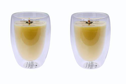 Maxxo Escential Thermoglas Kerzenset mit Zwei Düften Musk + Orchid Noir Kerzen im Glas 100% natürliche Sojawachs Candle Duftkerzen Geschenk Küchen Hochzeit Deko