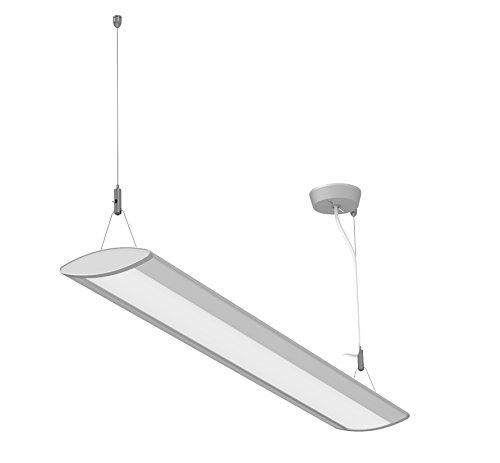 LED-Pendelleuchte Mauleye, Hängelampe aus Aluminium, 94 x 14 cm, 650 Lux, Neutralweiß [Energieklasse A+]