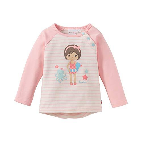 Bornino T-shirt raglan à manches longues top bébé vêtements bébé, rose/écru