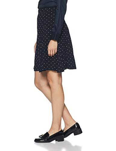 DJ&C by Fbb Women's Asymmetric Knee-Long Skirt (1001265733_Navy_S)