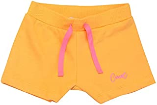 Carrot Light Cotton Girls Ribbed-Trim Drawstring Elastic Waist Shorts