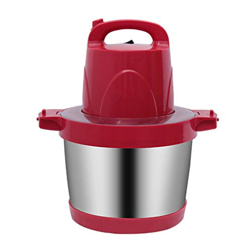 Vleesmolen 900W Food Chopper, elektrische keukenmachine, keuken, roer, groenten, vlees, moeren, chopper, met 6 l roestvrijstalen kom rood