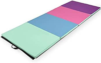 Giantex 4'x8'x2 Gymnastics Mat Folding PU Panel Gym Fitness Exercise