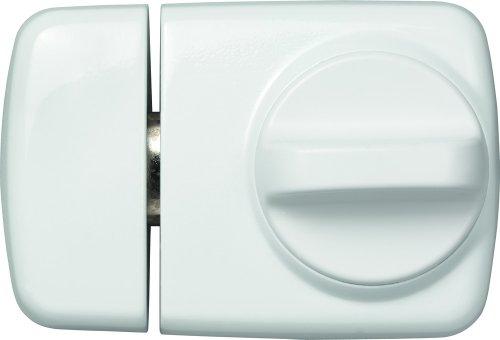 ABUS Tür-Zusatzschloss 7510 mit Drehknauf für Türen mit schmalen Rahmenprofilen, weiß, 58917