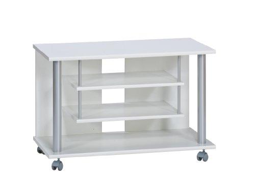 Maja 18988835 - Carello Porta TV, Capacità di carico 70 kg, Bianco, 80 x 54.5 x 40 cm
