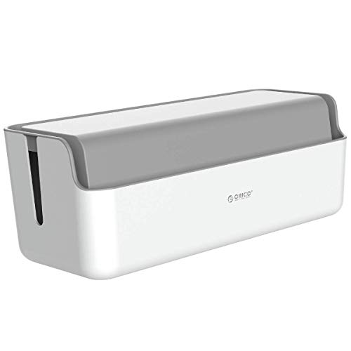 ORICO Kabelbox Groß Kabelmanagement-Box XXXL für Schreibtisch Steckdosenleiste Kabelorganisation, Kabel Verstecken und Kabelaufbewahrung ABS Kunststoff mit Gummifüßen, Organizer 430x170 x150mm (Grau)