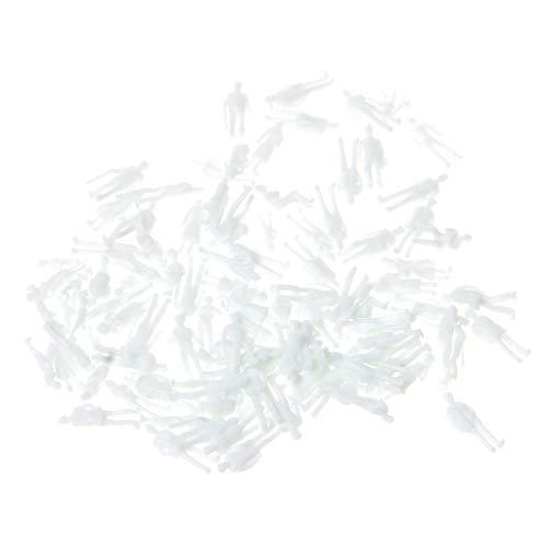 JERKKY 1: 100 Échelle Non Peint Blanc Modèle Personnes Figure Train Passagers Bricolage Jouet 100 Pièces Aléatoire Figure Modélisation