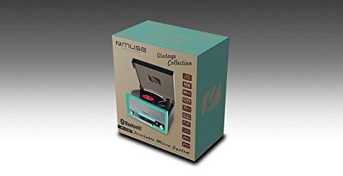 MUSE Platine de Disque rétro MT-110 - avec USB, AUX-in, CD, Bluetooth