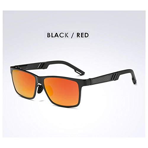 HGFT Mens Polarized Sunglasses Aluminum Magnesium Sun Glasses Driving Glasses Rectangle Lens For Men Eyewear