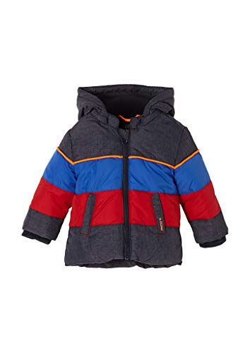 s.Oliver Unisex - Baby Funktionsjacke mit Colour Blocking dark blue melange 86
